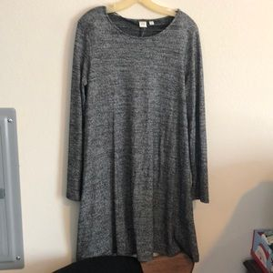 Gap silver long sleeve dress
